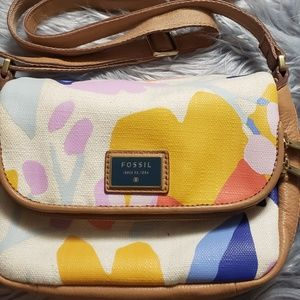 Fossil floral cross body
